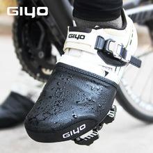 2021 pokrowiec na buty kolarskie pół palmowy zamek błyskawiczny wiatroszczelny ochraniacz rowerowy Boot Case górny materiał PU MTB szosowe buty rowerowe okładki tanie tanio GIYO CN (pochodzenie) Poliester Pasuje prawda na wymiar weź swój normalny rozmiar PU nylon polyester Half Palm Shoe Cover