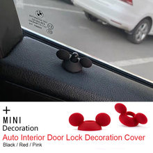 Auto Interior Door Lock Pin Cover Sticker for BMW MINI COOPER JCW One+ S Countryman Clubman F55 R60 Car Styling Accessories