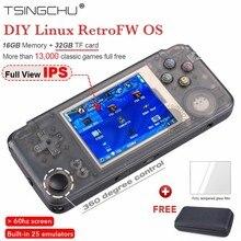 Последняя версия RS97 Plus RetroFW Linux система Ретро игровая консоль полный вид ips экран Двойная система RGP PS1 Ручной игровой плеер