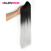 ValentWigs 24 Ombre Color Claw Ponytail Clip In Synthetic Hair Extensions Long Straight Accessories for Women