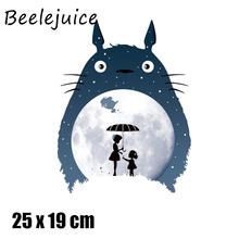 24pcs Tonari no Totoro Cartoon patches for clothing DIY Grade-A Thermal transfer stickers decorate accessories
