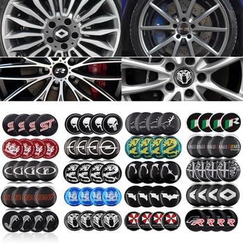 4PCS 56.5M Aluminium Logo Car Wheel Hub Center Cap Sticker For LADA BMW AUDI Mercedes-Benz toyota lada ford opel Renault Mazda 1pcs new 3d aluminum baby in car stickers for ford focus cruze kia rio skoda octavia mazda opel vw audi bmw lada car accessories