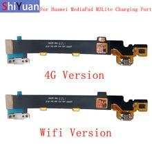 10pcs USB Charging Port Connector Board Parts Flex Cable For Huawei MediaPad M3 Lite 10 Flex Cable Replacement Part