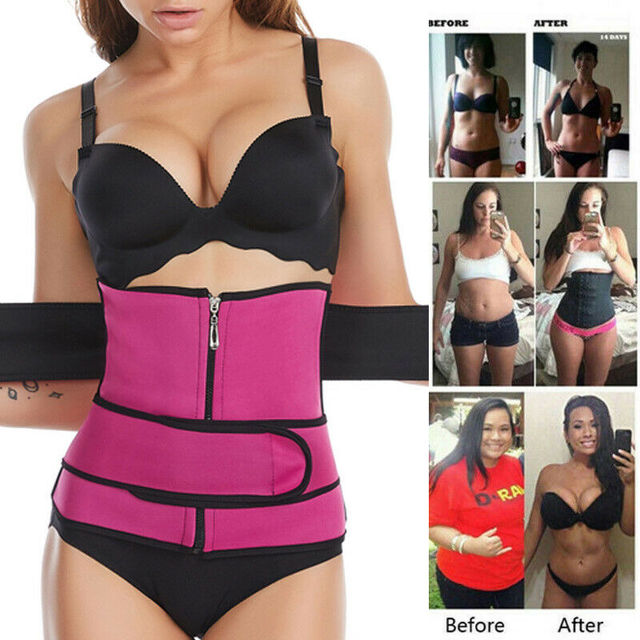 Women Waist Trainer Neoprene Belt Hot Sauna Sweat Body Shaper Tummy Control Slim 1