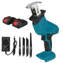 88V Cordless Reciprocating Saw + 4 Saw Blades Metal Cutting Wood Tool Portable Woodworking Cutters with 1/2 Batterys Charger