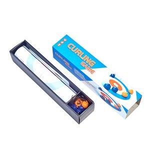 Mini pelota plegable para rizar para niños y adultos, mesa plegable de 120x28CM, juego de mesa compacto para Curling, juegos familiares para niños, familia, escuela, Viajes