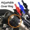 אוניברסלי אופנוע אופנוע צינור פליטה אנטי חם אנטי-סתיו מגן סיליקה ג 'ל מתכווננת כיסוי טבעת Fit עבור הונדה ימאהה