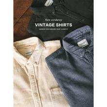 SIMWOOD 2021 Autumn New Retro Corduroy Shirts Men Garment Dyed Warm Loose 100% Cotton Shirts Plus Size Quality Clothes SK130050