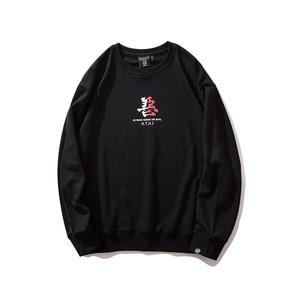 Image 3 - Bebovizi Японская уличная одежда Толстовка для мужчин худи демон 2019 Harajuku повседневные уличные японские худи