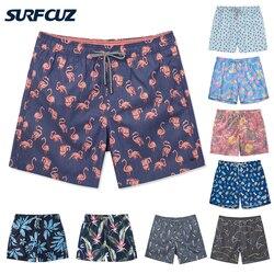 Surfcuz novos homens troncos de natação secagem rápida verão praia swim board shorts moda troncos banho com forro malha calções de vôlei