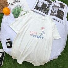 Летняя Корейская футболка Bangtan Boys, Kpop Fan, поддержка одежды, повседневные футболки для друзей с коротким рукавом Harajuku LOVE YOURSELF