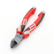185mm High Hardness Red Alloy Steel Heavy Duty Side Cutter Tools 7 Inch Electric Cable Rope Diagonal Wire Pliers Hand Tools