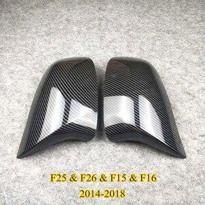 Image 4 - Coppia di accessori per auto coperchio specchietto retrovisore materiale ABS adatto per X3 X4 X5 X6 F25 G01 F26 G02 E70 F15 G05 E71 F16 G06