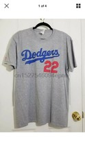 LA DODGERS KERSHAW Jersey T-Shirt 22 Grey - Men's XL Sga New(China)