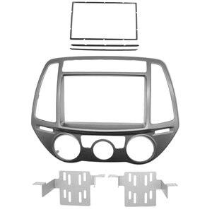 Image 5 - 2din rádio do carro de áudio quadro fascia para hyundai i20 i20 i 20 auto/manual ac 2008 + estéreo painel montagem kit adaptador guarnição moldura