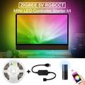 Zigbee RGBCCT Светодиодная лента USB Mini control ler 5 в 2 м светодиодная подсветка Смарт ТВ Полоса лента полосы света Alexa Echo Plus управление Zigbee 3 0 Hub