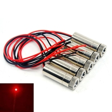 цена на 5pcs Focus Dot Red Positioning Lights 650nm 50mw Laser Module Focusable Head 12*30mm