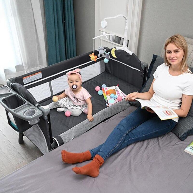 Europäischen Multifunctionbaby Krippe Neugeborenen Faltbare Baby Reise Laufstall Bett Tragbare Babybett Bett Spiel Hof Mit Net Stoff