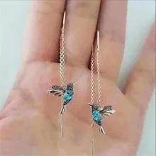 Hanging-Earrings Jewelry Gift Drop Little-Bird Elegant Girl Long Personality Women New-Fashion