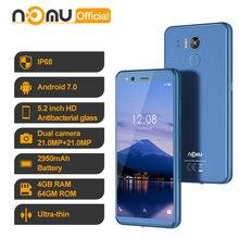 Nomu M8 IP68 wodoodporny smartfon android 7.0 MTK6750T Octa Core 5.2 'HD 21MP + 21MP 4GB RAM 64GB ROM 2950mah 4G LTE telefon komórkowy
