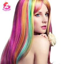 Dream Like Clip In Hair Extensions 36 Colored Ombre Long Straight Synthetic Hair Extension Clip In Hairpieces Heat Resistant