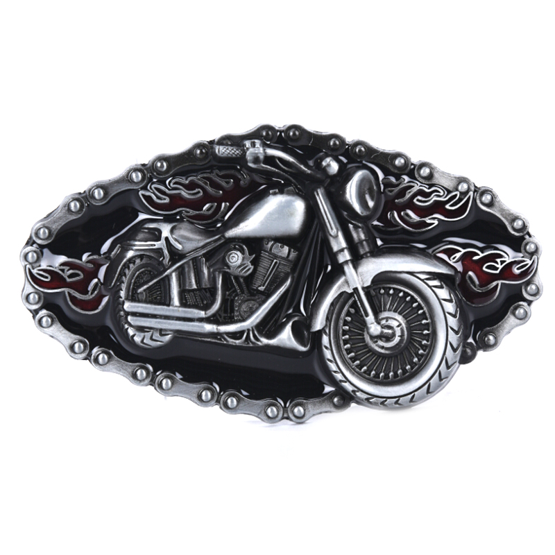 Punk Motorcycle Modelling Cowboy Alloy Belt Buckle 1.5 Inch Width Cowboy And Cowgirl Metal Tool Western Buckles For Belts