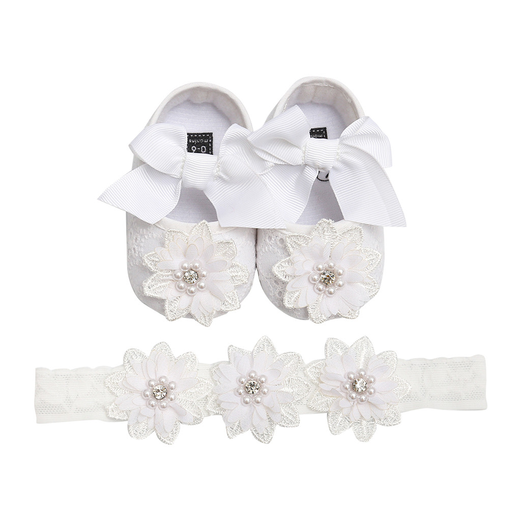 Baby Girl Shoes Kids New Born Bow-Knot First Walkers Bebek Ayakkabi Flowers Soft Sole Newborn Baby Shoes Chaussure Bebe Fille