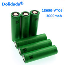 Dolidada 18650 battery 3.7V 3000mAh rechargeable battery for Sony us vtc6 3000 mah 3.7V electronic cigarette flashlight(China)