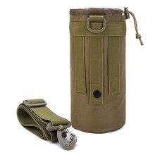 1.5 litros titular de copo ao ar livre masculino saco de garrafa esportes camuflagem um ombro crossbody saco de bolso viagem acessório