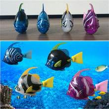 Swimming Robot Fish Electric Fish Water Toys Induction Fish Water Activated Toys Children Interesting Toy Color Random(China)