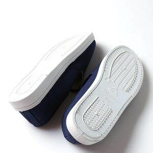 Image 4 - Anti Static รองเท้าเพื่อความปลอดภัยรองเท้าผ้าใบสีฟ้าแรงงาน Work Shop ทำความสะอาดฝุ่น ฟรี Purification