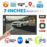 8702 7 inch MP5 Player 2 DIN Android Car In Dash Stereo Read U Disk Bluetooth AUX Video Input Seven Colors WiFi GPS FM