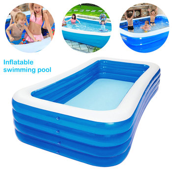 Summer Thickened Inflatable Swimming Pool Children Adults Bathing Tub Baby Home Use Paddling Pool Inflatable Square Kids Pool children multi layer bathing tub baby home paddling pool inflatable summer swimming pool kids inflatable pool ocean ball