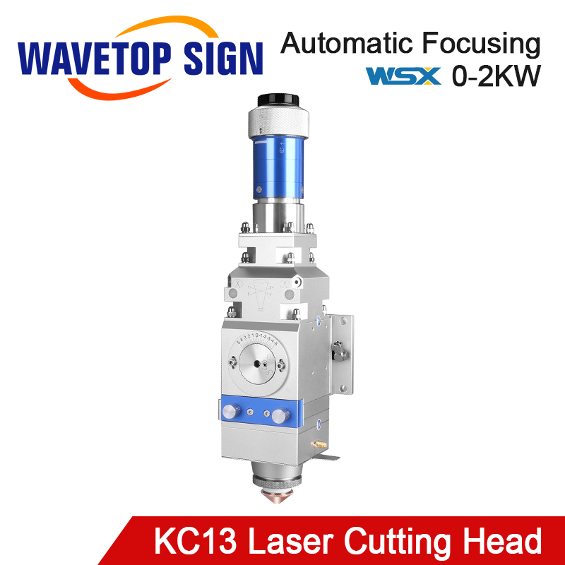 WaveTopSign WSX KC13 0-2kw Fiber Laser Cutting Head Manual Cutting Head 2000W For Metal Cutting