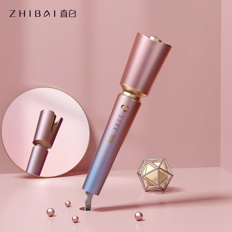 Автоматические щипцы для завивки ZHIBAI, розовая антиожоговая оболочка, Термостатические Инструменты для укладки волос, бигуди для создания в...
