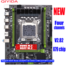 qiyida X79 M6 motherboard LGA2011 motherboard X79chip  USB3.0 SATA3.0 M.2 support DDR3 REGECC memory and Xeon E5 processor