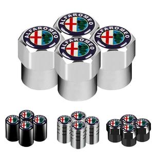 4pcs Car-Styling Car Wheel Tire Valve Tyre Caps Case For Alfa Romeo 159 147 156 166 Giulietta Giulia Mito Spider Car Accessories