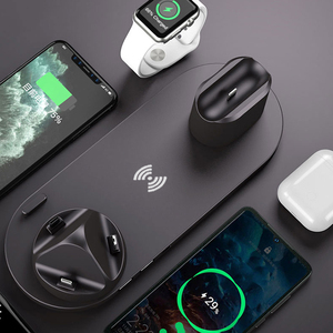Image 3 - 6 in1 10W Wireless Charger Stand Dock for iPhone 11 Pro Xs Max 8 X Fast Wireless Charging for Apple Watch 5 4 3 2 Airpods Pro 2