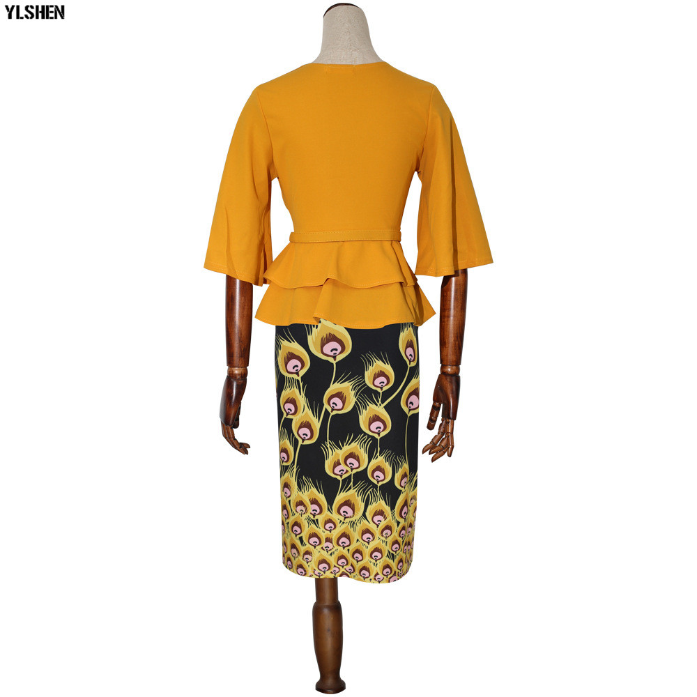 New Style African Dresses for Women Dashiki Print African Skirt Clothes Ankara Dress Bazin Rich Robe Boubou Africaine Femme 2019 08