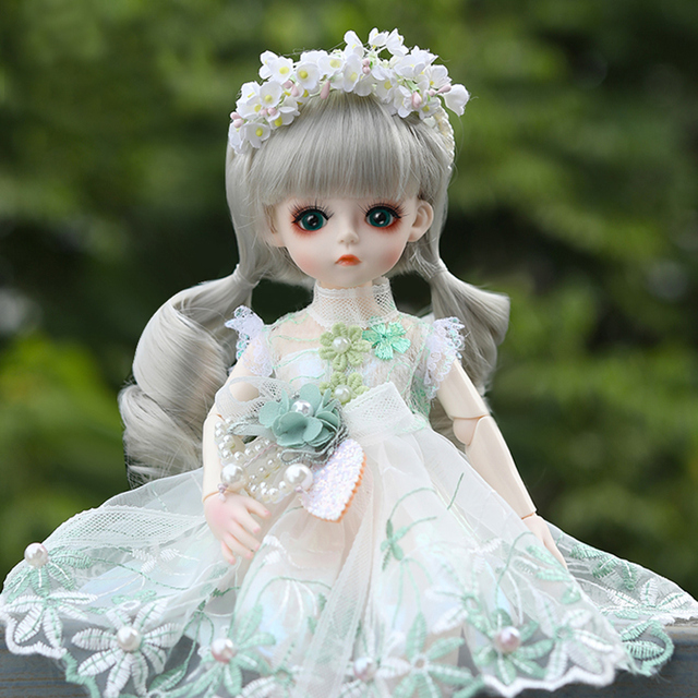 UCanaan BJD Doll 1/6 SD Dolls 30CM Girls Dress UP Toys With Full Outfits Dress Wig Shoes Makeup Best Gifts For Girls 3