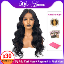 Wigs Hairline Remy-Hair Body-Wave Lace-Front Pre-Plucked 13x6 Black Women Brazilian 8-26inch
