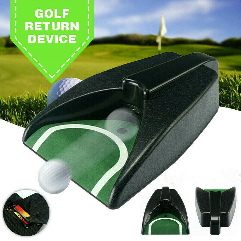 Golf Ball Return Device Machine Putting Cup Practice Garden Automatic Training Aid Tools Plastic Kick Back Indoor Outdoor Set
