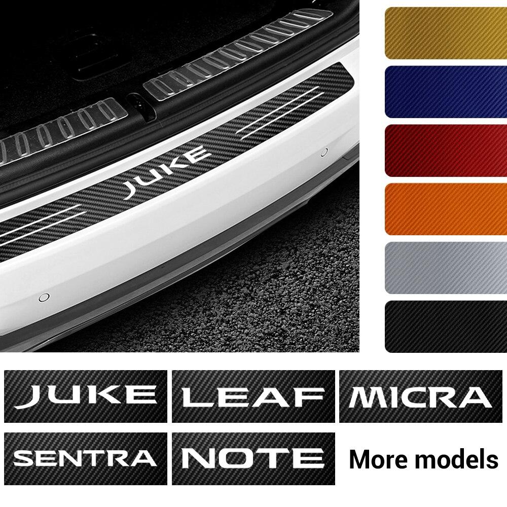 Автомобильная Эмблема багажника защитная пластина задний бампер Защитная Наклейка для Nissan Nismo Qashqai Juke Leaf Micra Sentra патруль Maxima Murano