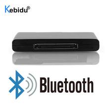 Hot 30 Pin Dock Bluetooth A2DP odbiornik muzyczny Adapter złącze dla IPad ipoda IPhone głośnik Apple 30Pin odbiornik tanie tanio kebidu AUDIO Brak Pojedyncze 30Pin Bluetooth Receiver black plastic Wired Full-Range