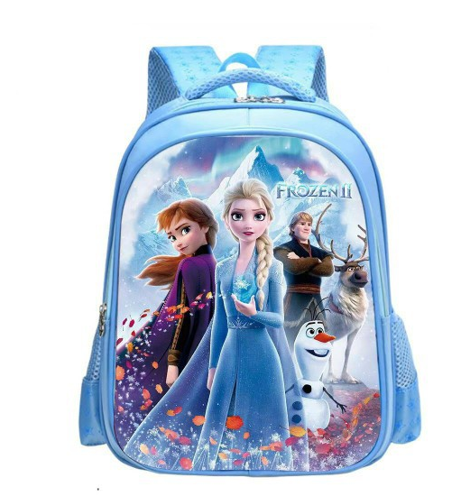 Disney Cartoon Schoolbag Frozen Elsa Anna Girls Cute Primary School Bag Kindergarten Cute Backpack