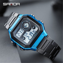 New Stainless Steel Digital Wristwatches Military Clock Sports Men Women Watches Waterproof Casual Watch Relogio Masculino 2019 men women watch clock gold silver vintage stainless steel led digital sports military wristwatches hodinky relogio masculino