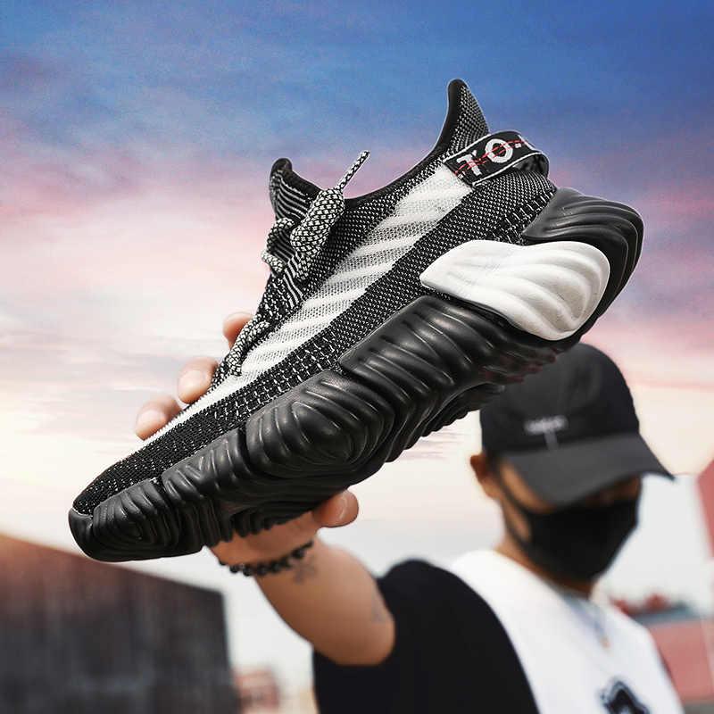 FAN PAO Einfach Spiel Mesh Off White Offizielle Original Yeezys Air Splv-350 Boost V2 Männer Laufschuhe Sport Schuhe Slip Auf casual Turnschuhe
