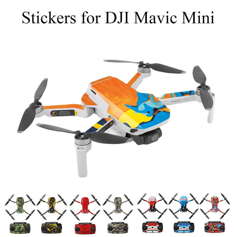 Colorful PVC Stickers For DJI Mavic Mini Waterproof Skin For Drone Body Arm Remote Control Protector For Mavic Mini Accessories