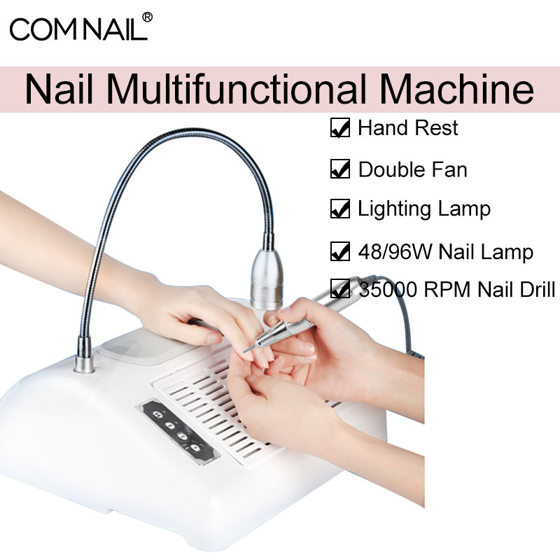 5-IN-1 Nail Dust Vacuum Cleaner & UV Lamp & Nail Drill Manicure Machine Extractor Fan Equipment For Manicure Nail Salon Tool