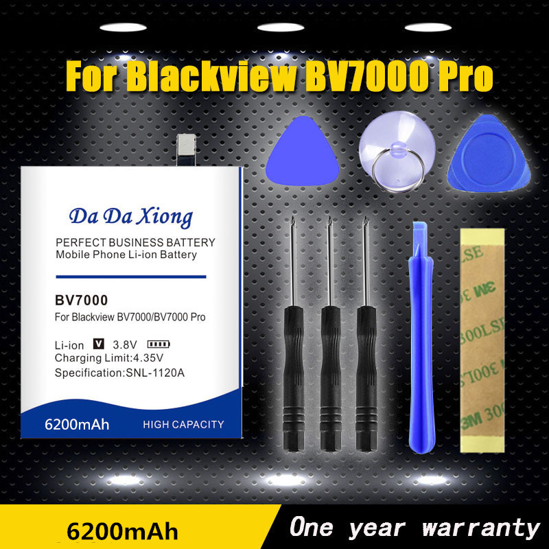 DaDaXiong 0 Cycle 6200mAh V575868P <font><b>BV7000</b></font> <font><b>Battery</b></font> For <font><b>Blackview</b></font> <font><b>BV7000</b></font> <font><b>Pro</b></font> <font><b>BV7000</b></font> Replacement Phone <font><b>Batteries</b></font>+Quick Arrive image